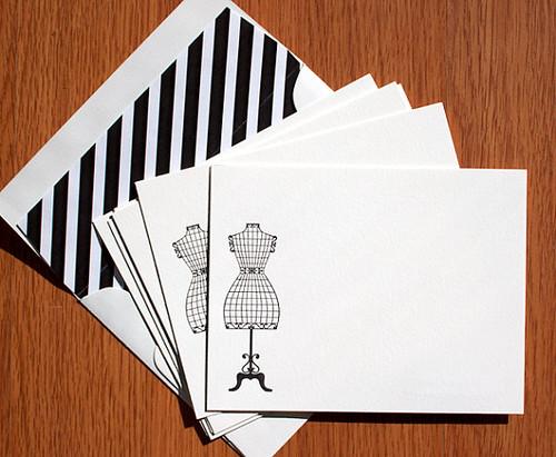 Letterpress Mannequin Note Cards