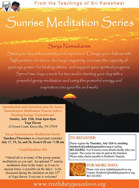 [knoxhealers] Sunrise Meditation Series