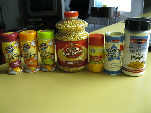 all my popcorn accessories