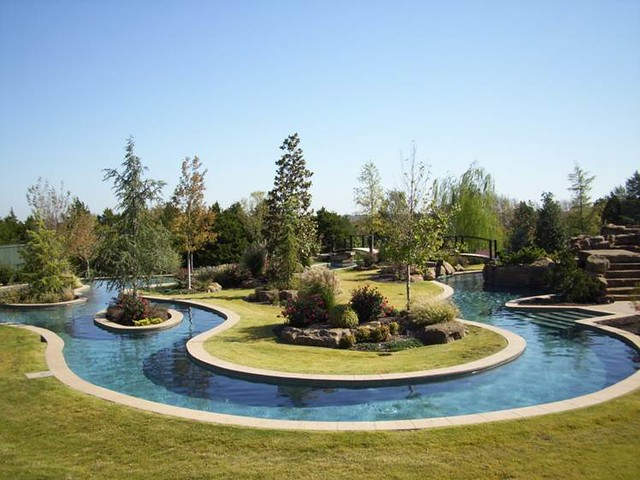 Building A Lazy River In Backyard : Prestige Pools And Spas, OK  Lazy River  This custom desig