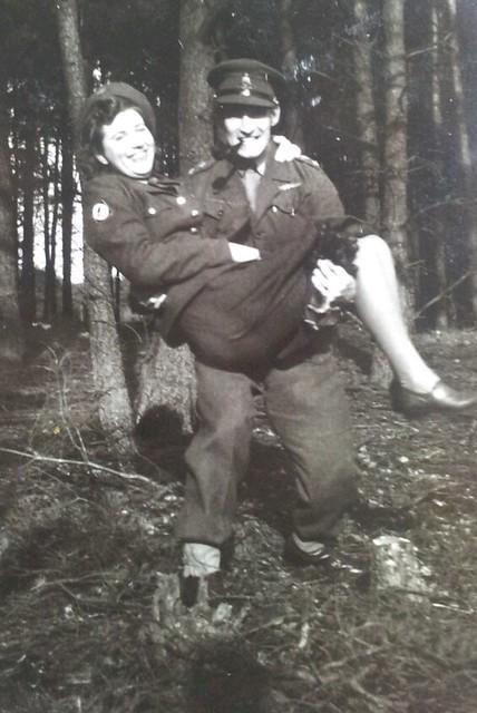 March 1946 Hannie and Basil at Diepholtz UNRRA