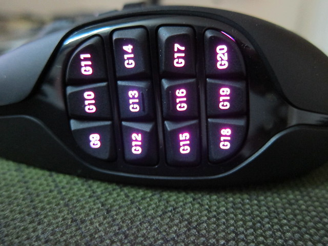 Logitech G600 With Purple Backlighting