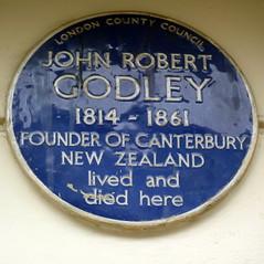 Photo of John Robert Godley blue plaque
