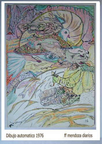 Diario lateral /Los setenta-1976- ff mendoza,dibujos automatico,tinta,lapiz color by FFMENDOZA -AUSTRALIA