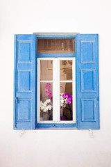 Mykonos Blue Window
