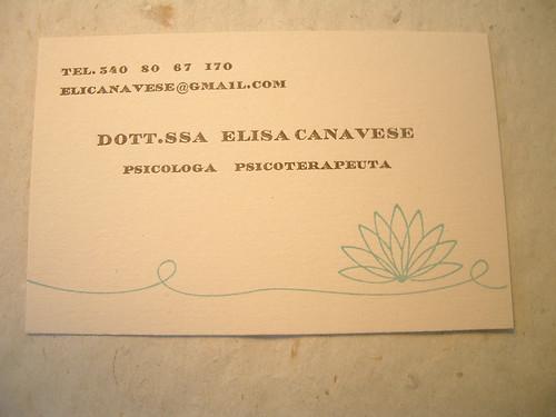 Elisa's carta di visita
