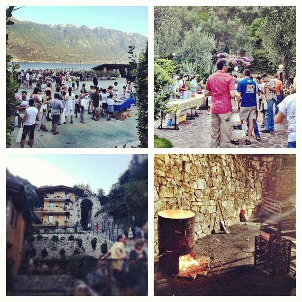 Molta bella gente, tanto alcool e cibo a volontà #limone #suoniesapori#picstitch