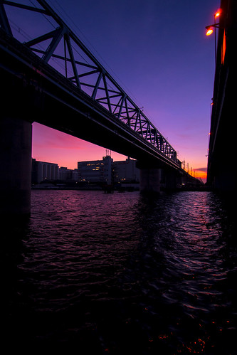 bridge sunset japan twilight olympus chiba omd em5