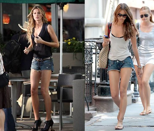 Gisele-Bundchen-Irina-Shayk-True-Religion-denim-shorts