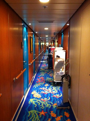 Norwegian Pearl - The Perpetual Sight of Carts in the Corridor