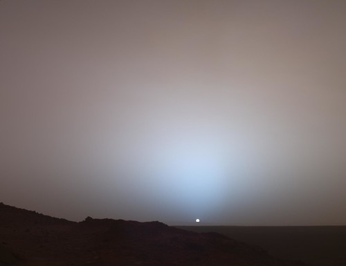 Sunset on Mars (NASA, Mars, 2005)
