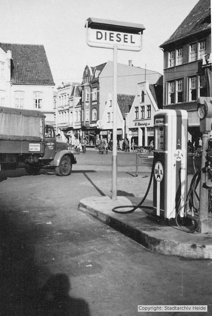 Tankestelle auf dem Markt