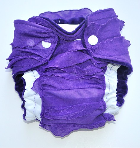 Bumstoppers Newborn Purple Ruffles Ai2 **New Style**