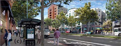 vision for a town center along El Camino Real (courtesy of Grand Boulevard Initiative)
