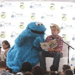 KLRU 50th Birthday Party 2012 366 Daytripper's Chet Garner reads with Cookie Monster