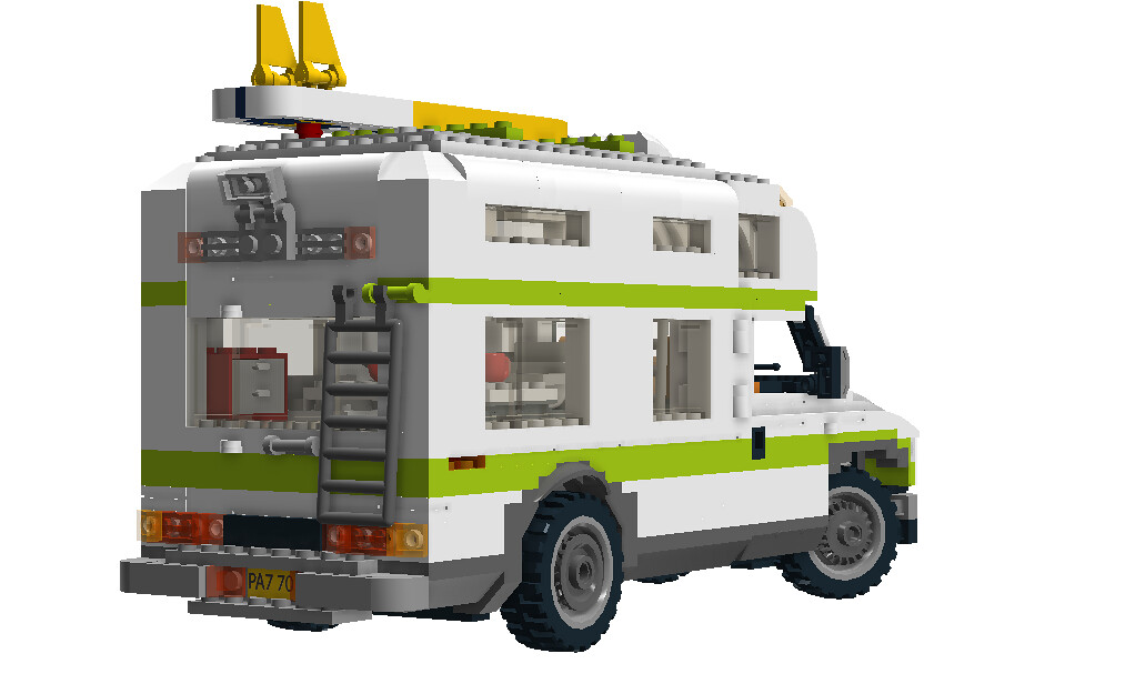 Lego City Camper Nr 7639 Recreated Ford Econoline