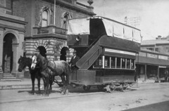 Horse Tram in front of Town Hall