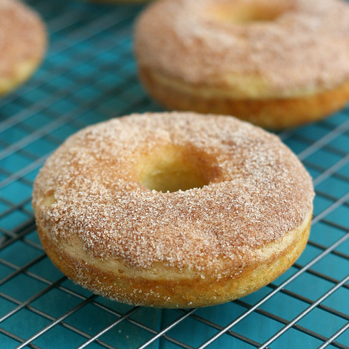Baked Maple Cinnamon-Sugar Donuts