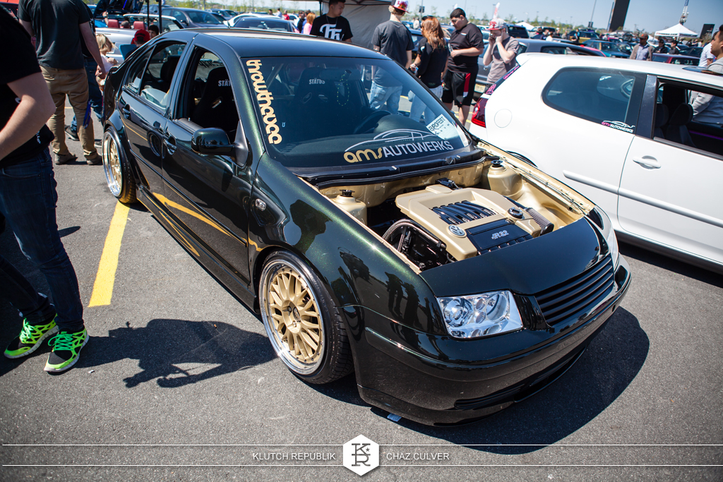 green mk4 vw jetta low and fitted on airride at eurofest 2012