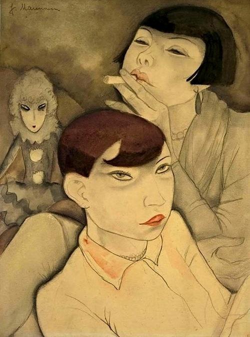 Langweilige Puppen (Boring Dolls), Jeanne Mammen, 1929