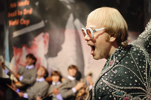 Elton John and the Beatles at Madame Tussaud's New York