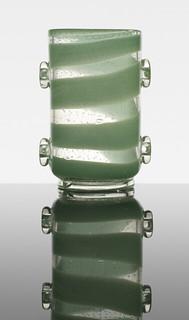 Ercole Barovier, Con applicazioni vase, 1938