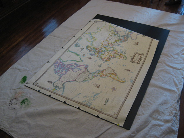 how to frame a large map