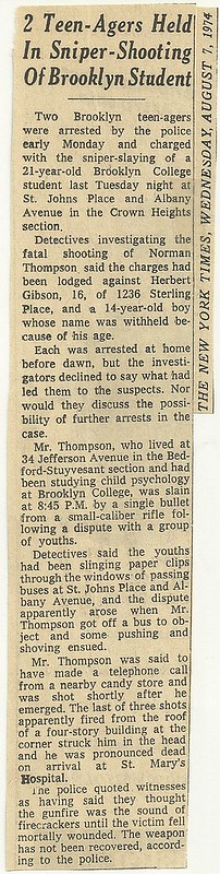 08/07/74 New York Times - 2 Teenagers Held In Sniper Shooting