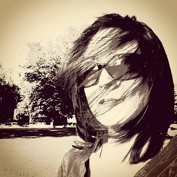 It's Windy at The Ball Field #photogene2 #selfie #me #wind