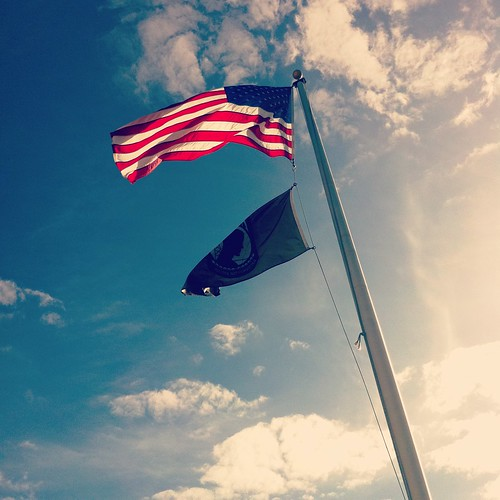 American Flag, POW MIA Flag
