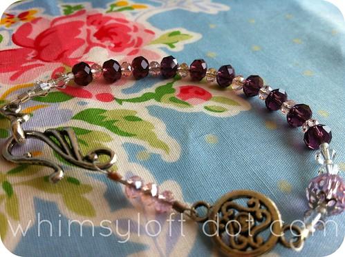 rosary bracelete amethyst