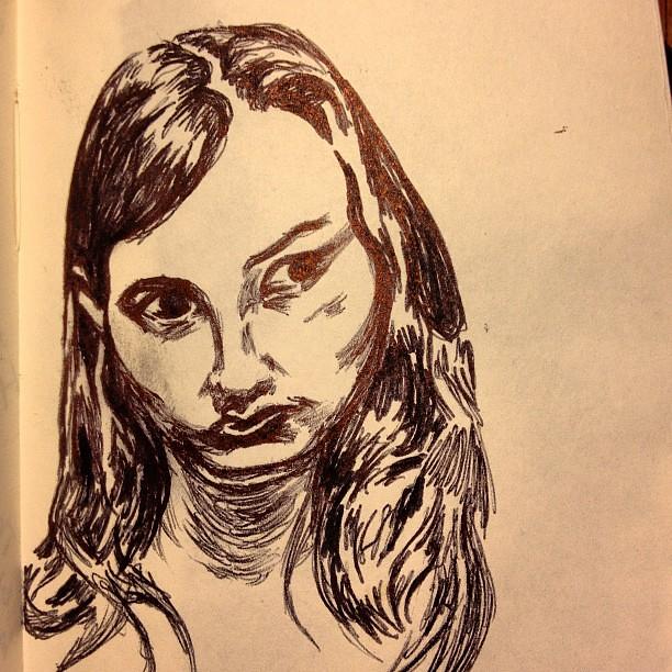 Skeptical #selfportrait