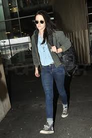 Kristen Stewart Denim Shirt Celebrity Style Woman's Fashion