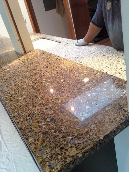 Recycled Countertops : Vetrazzo recycled glass countertops