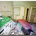 colchón y alacenas