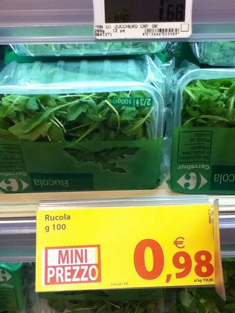 Rucola 100g 0.98 Euro