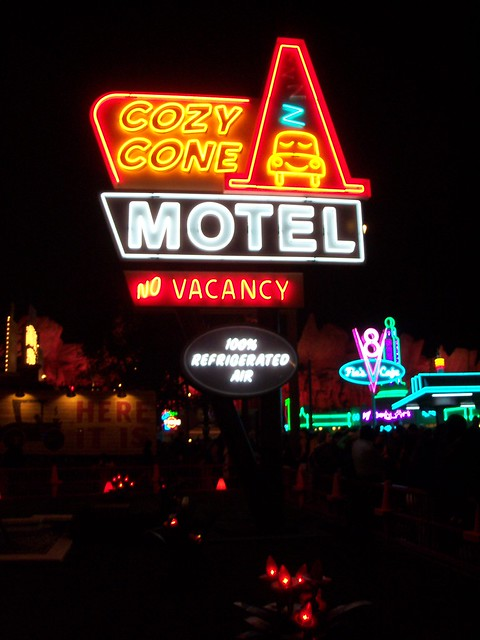Cozy Cone Motel in Cars Land at Disney California Adventure!