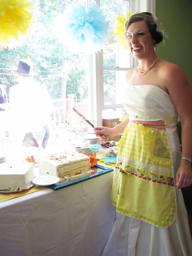 the bride & the cake