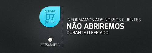 Banner - Feriado Seis & Meia Bar by chambe.com.br