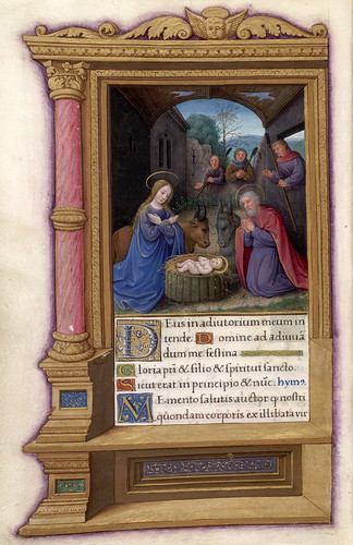 007-La Natividad-HM 48- fol 32v-Copyright (C) 2006 The Regents of the University of California. All rights reserved