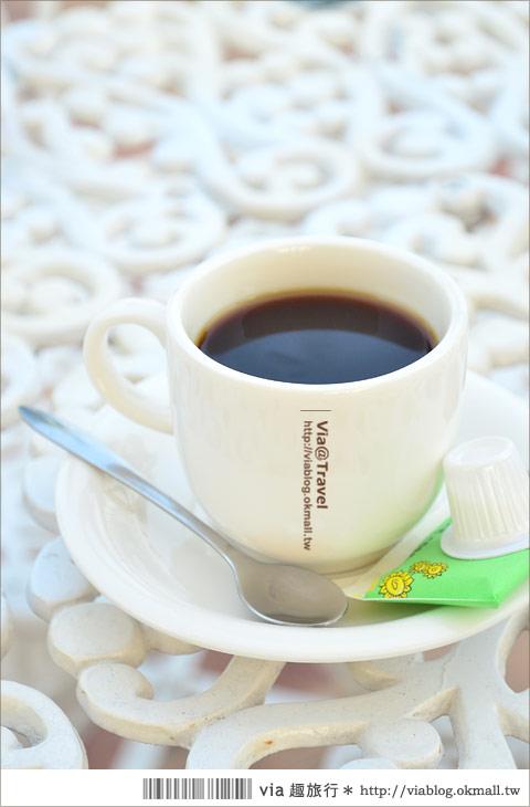 【彰化大村】進昌咖啡烘焙館~田園中的黃色歐式城堡!23