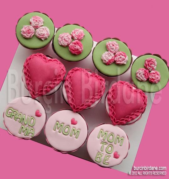anneler gunu cupcake