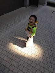 朝散歩でスポットライト (2012/6/26)