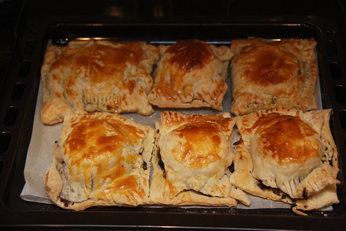 Morcilla and Goat Cheese Pie - Done