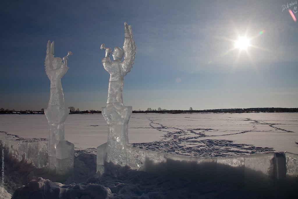 Ледяные ангелы на Онеге