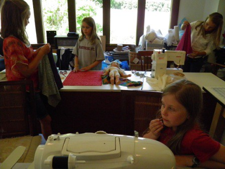 Prepping DOll Quilts for sewing