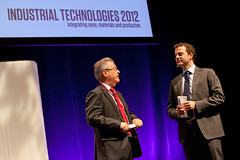 Rudolf Strohmeier (European Commission) and Morten Østergaard, Minister of Science (DK) in Aarhus