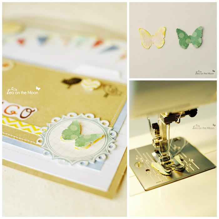mosaico picmonkey Postal bebe scrap mariposa