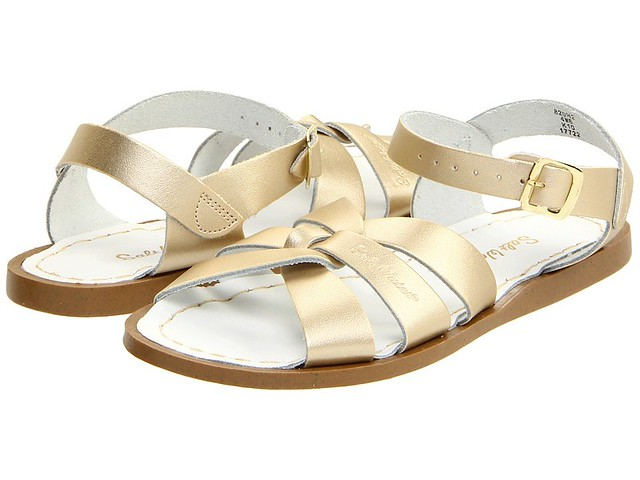 gold sw sandals