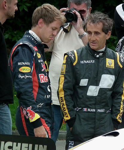 Vettel and Prost - Goodwood 2012